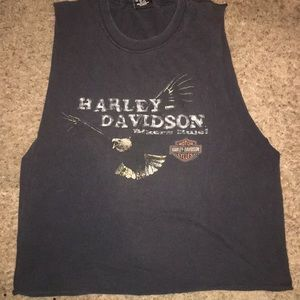 Vintage Harley Davidson cutout top from 2004